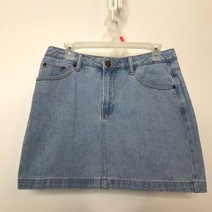 Forever 21 Denim Mini Skirt Size Large